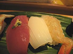 8ランチ:カツオ・イカ・生エビ@ひょうたん寿司・天神・新天町