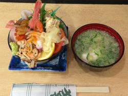 1ランチ:あつ賀風スペシャル海鮮丼1,050円@寿司・あつ賀・渡辺通