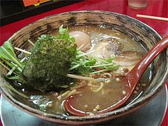 料理:節らーめん580円+味玉100円(味玉ラーメン)@豚と節家
