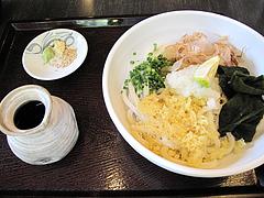 料理:ぶっかけうどん(冷)空撮@麺処かわべ・博多駅南