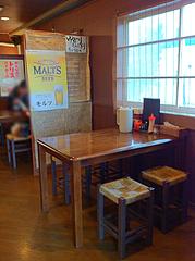 店内:テーブル席@らーめん・麺屋・遊楽