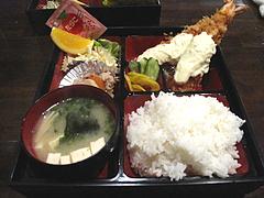 6ランチ:大エビフライ定食600円@食季楽・風香・高宮