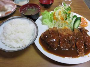 10カツ定食1,200円@たつ