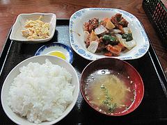 6ランチ:スーパイコ(酢豚)定食840円@博多ラーメン一点公・大橋