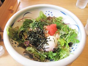 5博多明太サラダうどん(冷)800円@茶ぶ釜