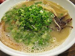 料理:鶏豚骨めん550円@ラーメン麺場・元次・薬院