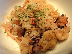 料理:タコホタテカニ海鮮炊き込みご飯@中村孝明・ホテルマリターレ創世・久留米