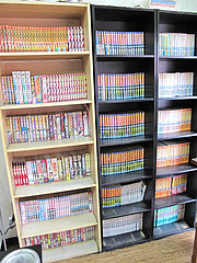 店内:漫画コーナー@長浜ラーメン量亭