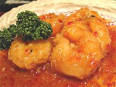料理8:プリプリエビチリソース和え950円@和膳・松の湯・春日原