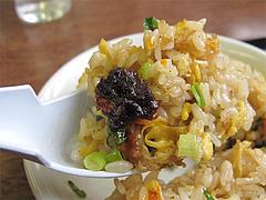 料理:食べるラー油とチャーハン@ラーメンつる家・那珂川