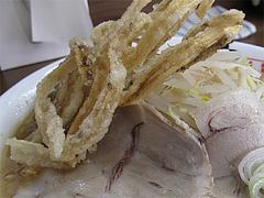 料理:ラーメンにゴボ天!@博多麺業・島系・春吉店