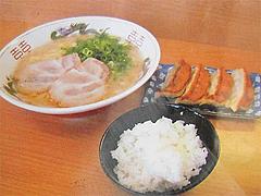 12メニュー:ラーメン定食750円@江ちゃんラーメン