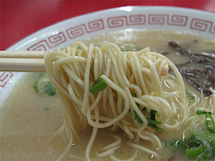 料理:ラーメン麺@長浜ラーメン・たくま