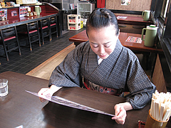 店内:メニュー選び@拉麺・空海・那珂川本店