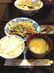 ランチ:ホルモン焼600円@ふくちゃん亭・藤崎通り商店街