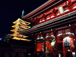 2宝蔵門と五重の塔2@どぜう飯田屋