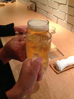 1ビールとハイボール@花のれん