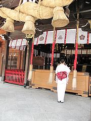 外観:櫛田神社・よろしくお願いしまうす@博多つけ蕎麦・串揚げ・博多大乗路・櫛田神社