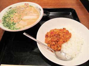 7ラーメン定食500円@英々食堂
