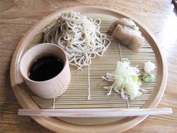 13ざる蕎麦とこんにゃく寿司1,000円@蕎麦・文治郎