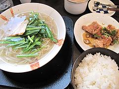 ランチ:ランチAセット@麺屋まつけん・渡辺通・電気ビル裏