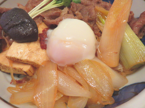 10すき焼丼野菜