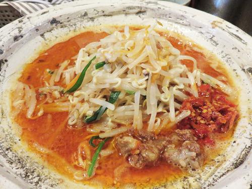 6激辛野菜担々麺750円