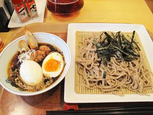 6つけ蕎麦750円+半熟玉子100円@つけ蕎麦かんた