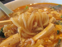 15ランチ:サンラータンメン(酸辣湯麺)めん@中華・華風・福壽飯店・大名