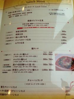 11コース・定食・麺メニュー@薬膳・天地礼心