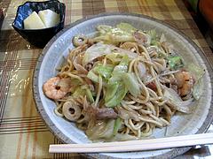 ランチ:皿うどん550円@中華料理・王さん・高宮