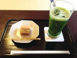 9冷抹茶セット1,050円@河合神社