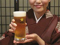 料理:サッポロ生ビール黒ラベル500円@博多一梅(ひとばい)