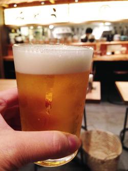 6無料ビール@釜喜利うどん