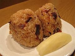 16料理:鮎のおにぎり@居酒屋なごみ・八女の鮎と燻製料理の店・美野島