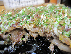15料理:このみ名物・豚平焼の断面@鉄板焼・お好み焼き・居酒屋・好味(このみ)