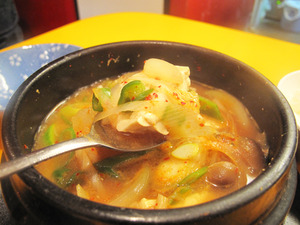 9味噌チゲ辛い@チェおばさんのキムチ