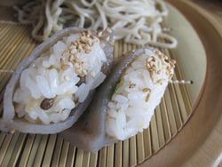 16こんにゃく寿司@蕎麦・文治郎