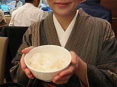 料理:定食のご飯大きさ@八仙閣・博多駅東