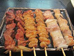 7焼鳥:豚バラ・皮・肝@焼とり・赤兵衛・姪浜・居酒屋