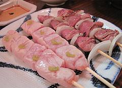 料理:ささみ189円・砂ずり147円@やきとり処・博多こっこ家・春吉