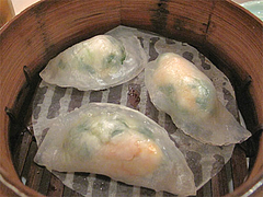 料理:海老入り翡翠餃子@台湾料理・点心楼・台北・清川