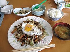 ランチ:焼きそば定食500円@キッチンハウスあをい(あをい食堂)・平尾