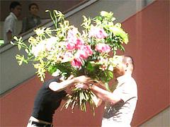 ヒビヤフラワーアカデミー フラワーアレンジメント作品展2008 デモンストレーション1