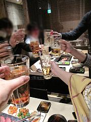 1店内:乾杯@焼肉・一真・天神