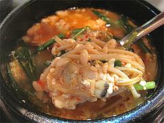 ランチ:スンデゥブ・チゲ具@韓国家庭料理ソウル亭・高砂