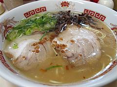 料理:とんこつラーメン450円@ラーメンぽんぽこ亭大橋店