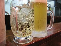 料理:ビールとジンジャーエール@やきとり処・博多こっこ家・春吉