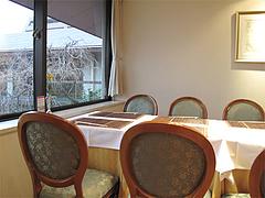 店内:テーブル席@創作懐石料理・中村孝明・ホテルマリターレ創世