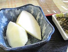 ランチ:りんごと高菜漬@中華料理・王さん・高宮